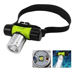 CREE T6 LED Diving Headlamp Headlight Underwater Flashlight Torch Light 135g