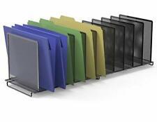 Desk File Sorter Office Document Organizer Home Letter Holder Black Desktop Rack