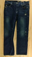 Third & Army Men Jeans 36X34 Relaxed Engineer Dark INDIGO Distressed Made In USA