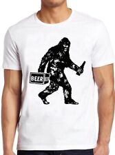Bigfoot T Shirt Funny Beer Drinking Vintage Sasquatch Gift Retro Cool Tee 41