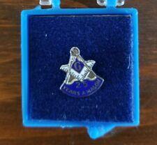 Vintage Mason Lapel Pin Sterling Silver 25 Year Masonic Freemason Anniversary