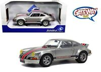 1/18 Solido Porsche 911 RSR BACKDATING OUTLAW Diecast Model Car Silver S1801112