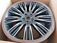 "Range Rover L405 OEM 22"" x 9.5"" 9 Spoke Wheel Set Pincer Diamond TL Satin Silver"