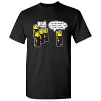 AA Battery Sarcastic Graphic Gift Idea Cool Unisex Funny Novelty T Shirts
