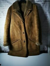 "Men's Sheepskin Brown Coat Owen Barry Large 40"""