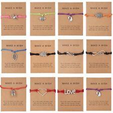 Womens Wish Bracelet Friendship Daughter Mum Sister Girlfriend Birthday Gift NEW