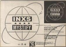 8/4/89Pgn36 Advert: Inxs 'mystify' The New 4 Track Single On Mercury 7x11