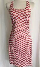 DVF DIANE VON FURSTENBERG Red White Silk Heart Dress 6