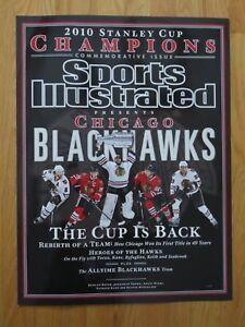 '10 CHICAGO BLACK HAWKS PROMO Sports Illustrated Display Poster TOEWS KANE NIEMI