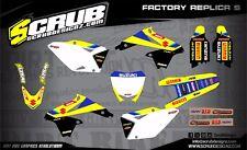 SCRUB Suzuki graphics decals kit RMz 250 2010-2018 stickers motocross '10-'18
