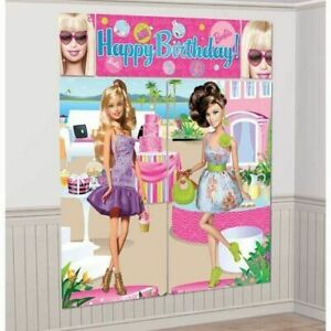 BARBIE Wall Decorating Kit Scene Setter Party Decorations Birthday Girl