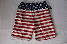 New listing Mens Casual Shorts Xl Usa American Flag Gym Running Athletic Pockets Red Blue