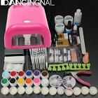 Full 36W Cure Lamp Dryer + 12 Color UV Gel Nail Art French Tips Tools Set Kit