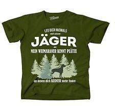 T-Shirt OLIVE JÄGER WEIMARANER HUNDE KENNT Plätze JAGD  findet Siviwonder