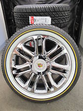 "22"" NEW PLATINUM ESCALADE FACTORY CHROME WHEELS 285-45-22 VOGUE TIRES 5358"
