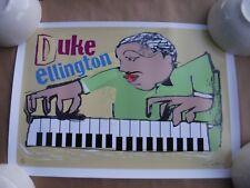 Easton Davy Hand Signed and Numbered DUKE ELLINGTON  Jazz Great Print 13 x 19