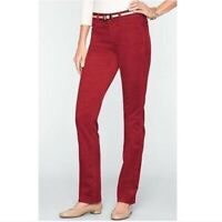 TALBOTS $89 Heritage Stretch Straight Leg Red Corduroy Casual Pants Size 16