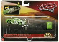 Official Disney Pixar Cars Brick Yardley Launcher + Metal Diecast Car