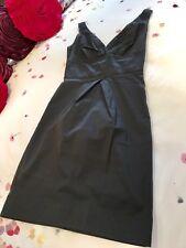 Diane von Furstenberg Black Mini Dress Size 6UK, Front Puckered Pleat