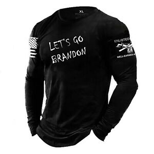 LET'S GO BRANDON, Enlisted Ranks graphic t-shirt, NOT GRUNT STYLE