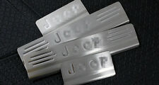 Stainless Steel 4PCS Door Sill Scuff Plate For Jeep Compass 2011-2015 with LOGO