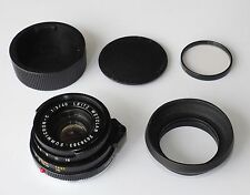 LEICA LEITZ 40mm f2 SUMMICRON C CAPS HOOD FILTER & MINT! CL MINOLTA CLE