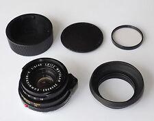 LEICA LEITZ 40mm f2 SUMMICRON Tappi Filtro Cappa C & Nuovo di zecca! MINOLTA CLE CL