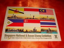 1986 Singapore National & ASEAN Stamp Exhibition Postcard, New