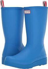 NEW Hunter Original Play tall Rain boots Women Rubber Waterproof Size US 5 blue