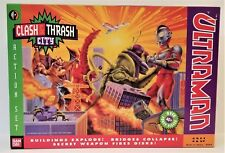 ULTRAMAN CLASH & THRASH CITY ACTION SET 1991 DREAMWORKS BANDAI OVER FORTY PIECES