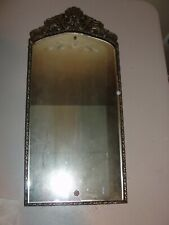 be99b1a7191 Antique Art Deco Reverse Etched Mirror Beveled Edge Wood Gold Gesso Frame  24