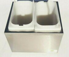 Server Sr-2S Pump Style Dispenser Stainless Steel w/ 2 Plastic Fountain Jars