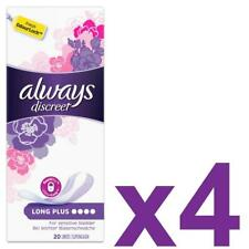 Always Discreet Sensitive Bladder Incontinence Womens Panty Liners Plus 80 Pack