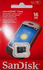 Sandisk 16GB Class 4 MicroSDHC Tarjeta de memoria de teléfono celular para smartphones y cámaras