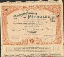 DECO (art déco) => Compagnie Française de PÉTROLES (G)