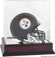 Pittsburgh Steelers Mahogany Logo Mini Helmet Display Case - Fanatics