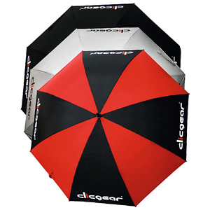 "CLICGEAR 68"" VENTED DUAL CANOPY WIND RESISTANT GOLF UMBRELLA / ALL COLOURS"