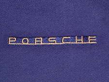 PORSCHE DESIGN DRIVER'S SELECTION RETRO SPIRIT BLUE POLO SHIRT. EURO:L=USA:M NOS