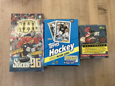 Lot Of 3 Hockey Boxes 1995-96 Bashan Israel Imperial Stickers 1992 Topps Classic