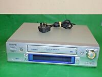 AIWA HV-FX5850 VCR VHS VIDEO CASSETTE RECORDER Vintage Silver Smart Fully Tested