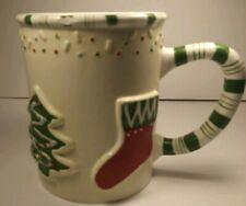 The White Barn Candle Company Christmas Tree And Stocking Coffee Mug