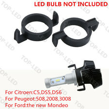 2x H7 LED Headlight Adapter Holder For Ford Mondeo Citroen Peugeot 2008 3008 508