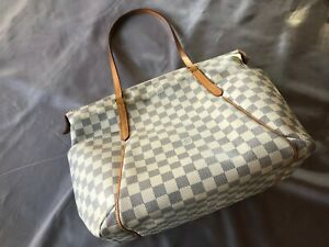 Authentic Louis Vuitton Damier Azur Totally MM Shoulder Bag Tote
