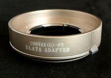 ULATA Lens Mount Adapter +Rear Cap Contax G to Fujifilm FX XT1 XE2 XM1 XA1 CGFU