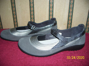 NAOT GRAY SUEDE MARY JANE SHOES NEW!! SIZE 42 LADIES 11