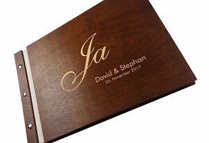 Gästebuch individuell Hochzeit Holz personalisiert Hochzeitsalbum Buch