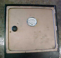 """COLEMAN Fold Flat Camp Oven Sits on Stove A700 Black Tan Folding 12"""" square nice"""
