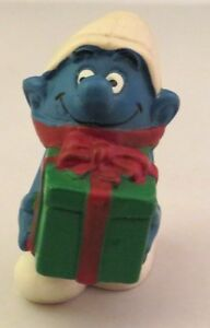 Rare Vintage Smurf carrying present ornament