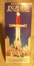 Excalibur Hotel Casino Original Advertising Room Rate Flyer Las Vegas Nevada
