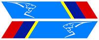 2 X BANDES POUR PEUGEOT SPORT GTI RALLYE 25cmX4,5cm STICKER AUTO BB013
